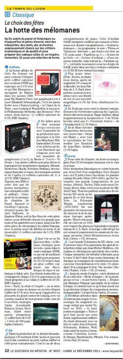 Article Quotidien du Médecin 2011112