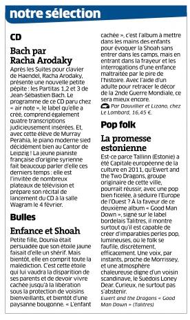 Chronique CD Bach Est Républicainb