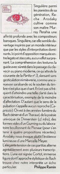 Diapason disque Bach 201203